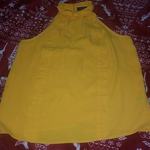 Marigold scallop shirt ( firm price)